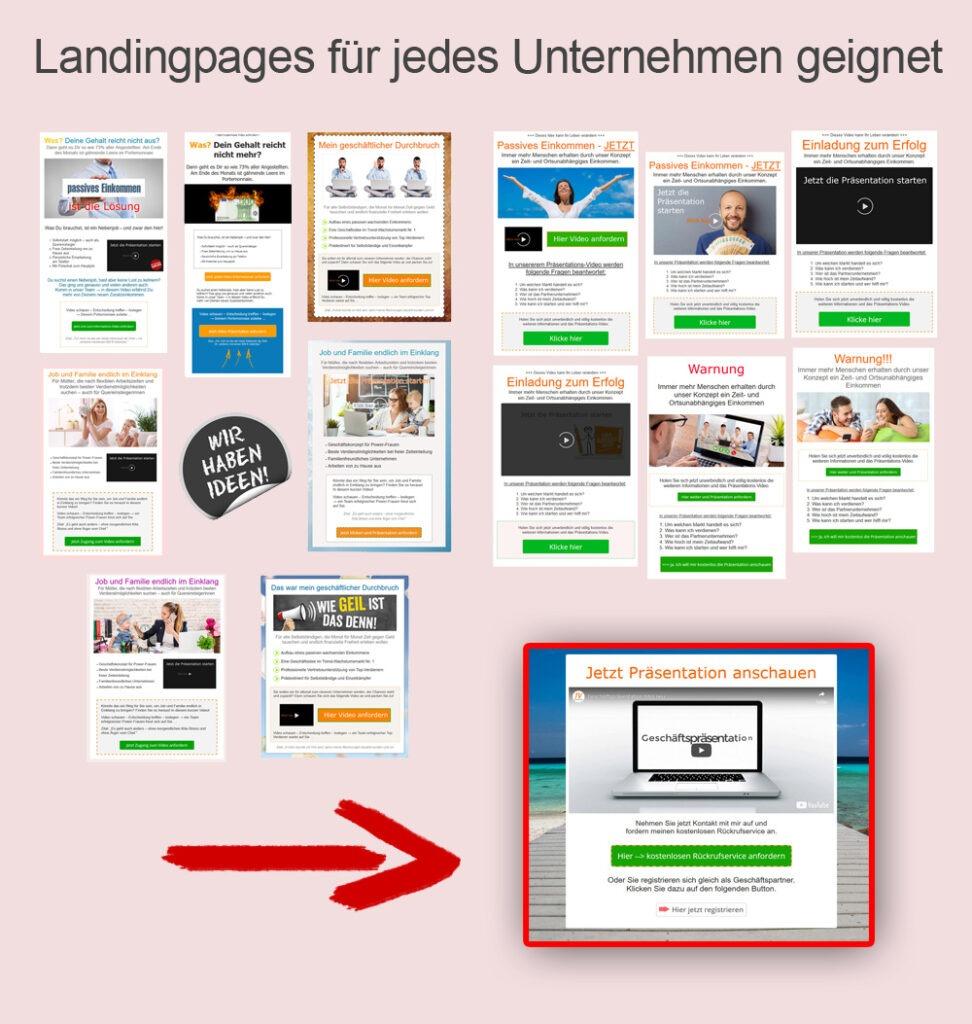 Landingpages network marketing funnel